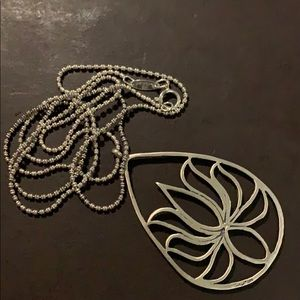 Lotus sterling pendant and necklace